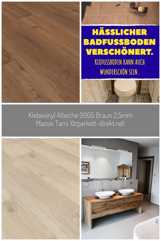 Klebevinyl Alteiche 9905 Braun 2 5mm Massiv Tami Xtrparkett Direkt Net Bodenbelag Badezimmer Alte Eiche Kuchen Bodenbelag Und Vinyl