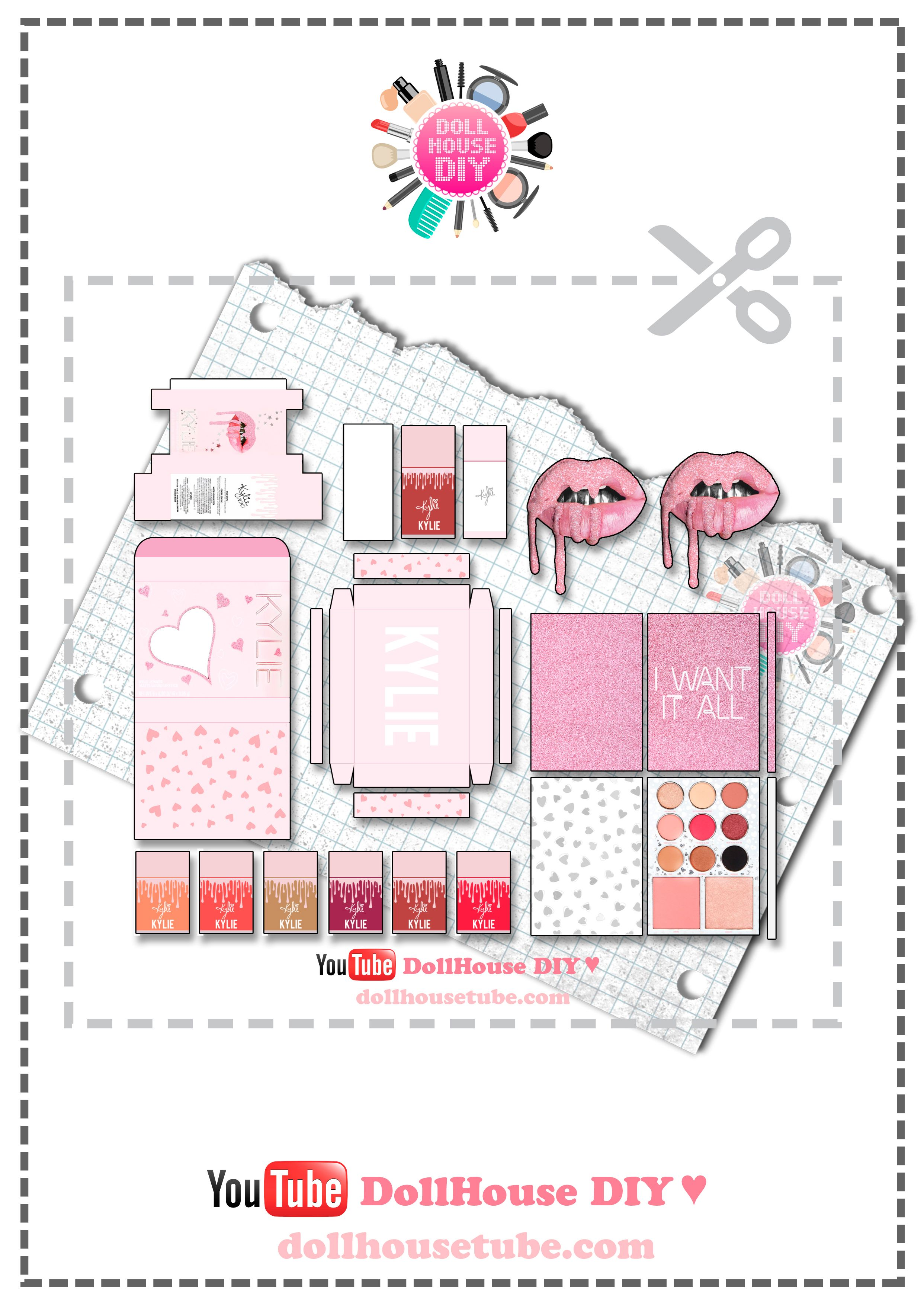 Diy Miniature All Kylie Cosmetics 20 Birthday Collection