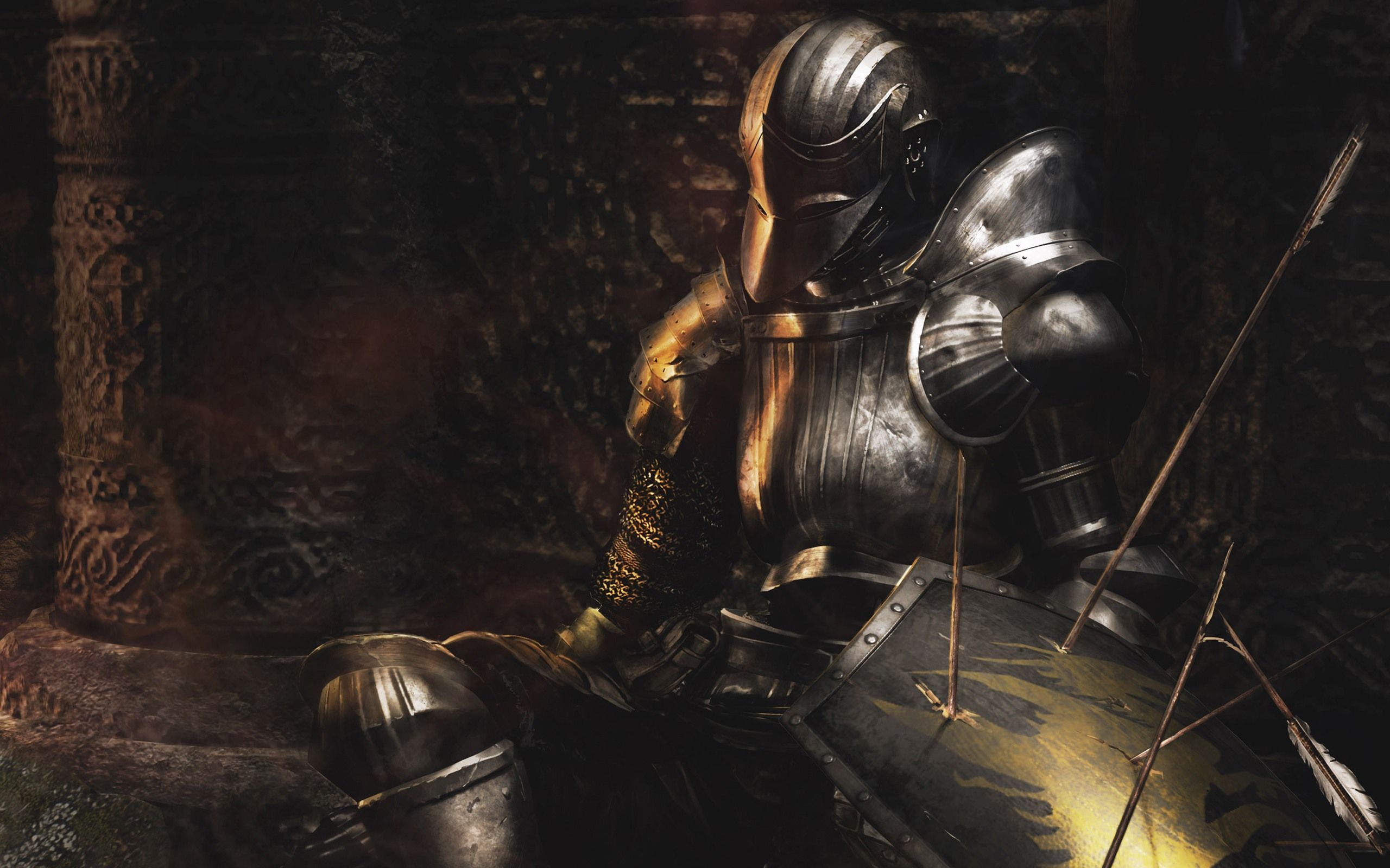 demons souls wallpaper HD | Warrior, Heros, Swords, | Dark