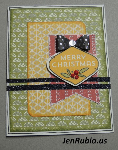 Stamp set is Holly, Jolly Christmas D1657 with Paper Fundamentals