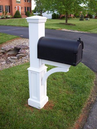 Nice Architectural Detail, Mailbox Post