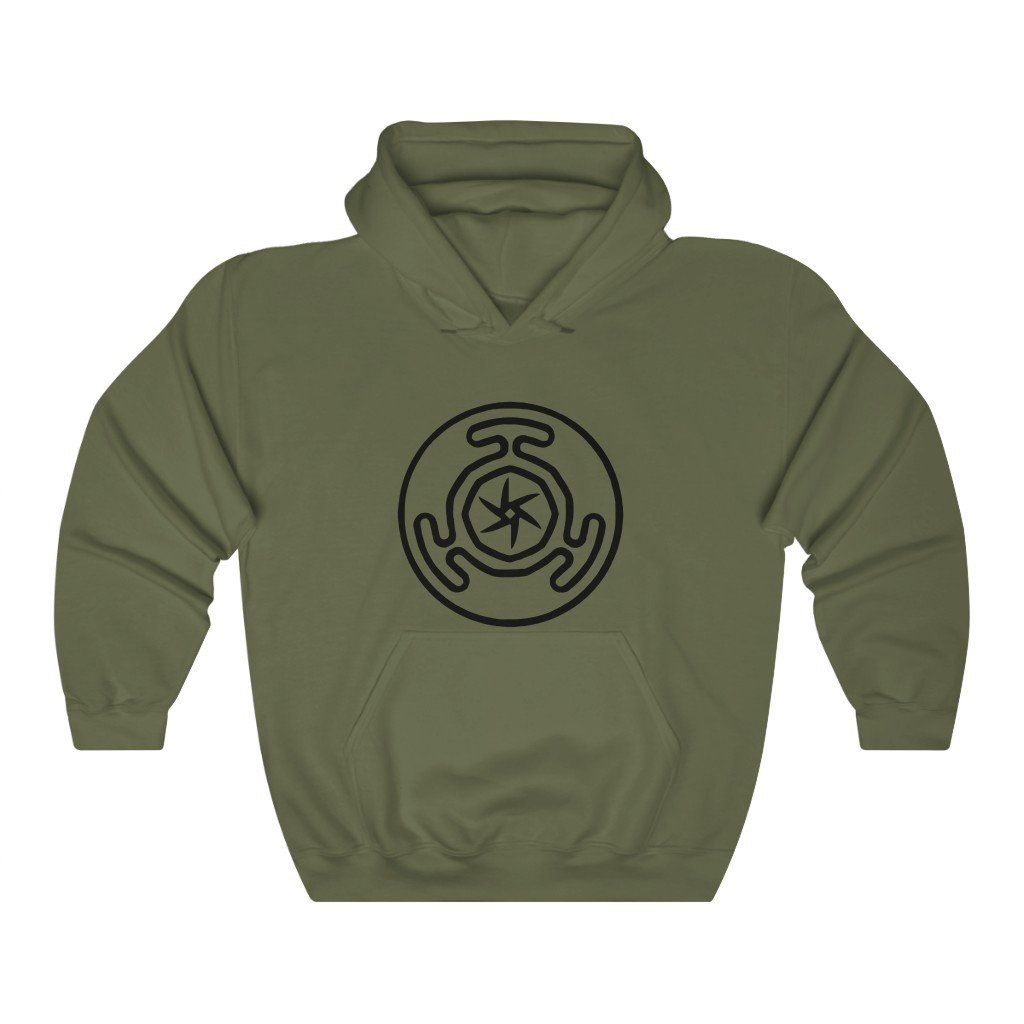 Photo of Hekate's Wheel Unisex Heavy Blend™ Hooded Sweatshirt – Military Green / S