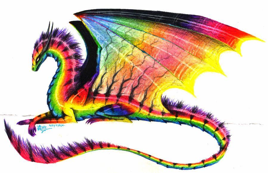 Art Trade Rainbow Dragon By Neytirix On Deviantart Fantasy Dragon Dragon Pictures Dragon Art