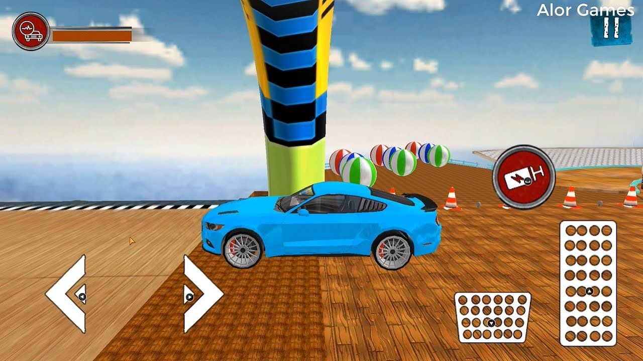 I Bought A Blue Car On Water Surfing Car Stunts Android Gameplay Video 4 In 2020 Water Surfing Blue Car Stunts