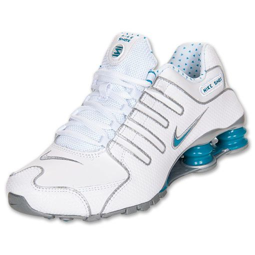 Discount Authentic Womens Nike Shox NZ Shoes White/Turquoise