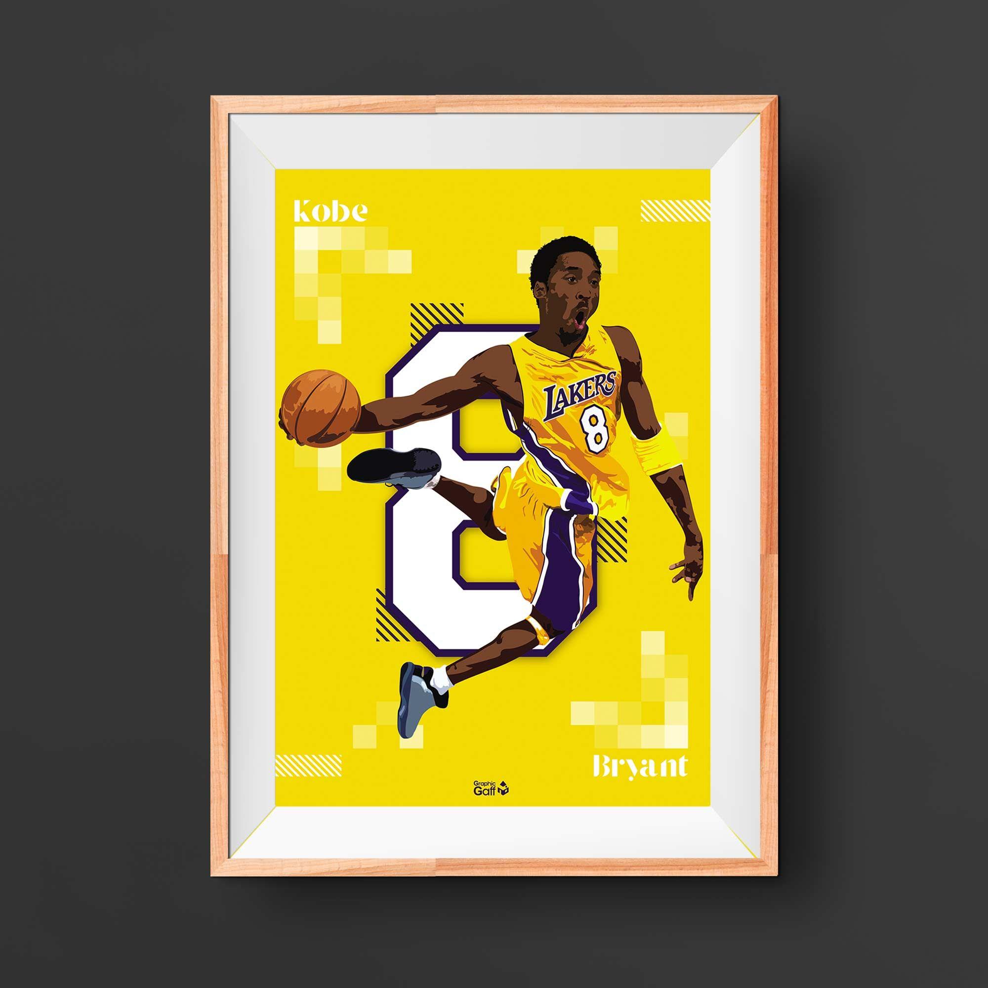 Lakers Basketball Kobe Bryant Art Print Poster Etsy In 2020 Kobe Bryant Poster Basketball Posters Kobe Bryant