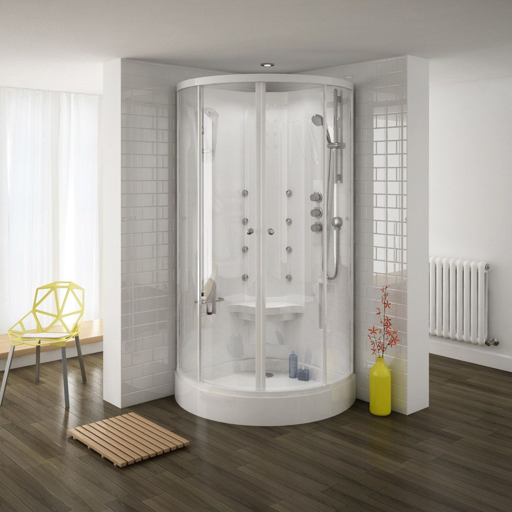 Shop the Quadrant Hydro Massage Shower Cabin Enclosure. Features 8 ...