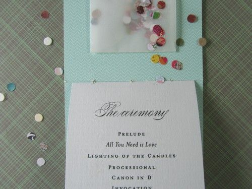 more confetti programs - looks like it was just a hole punch and cool paper.  interesting!