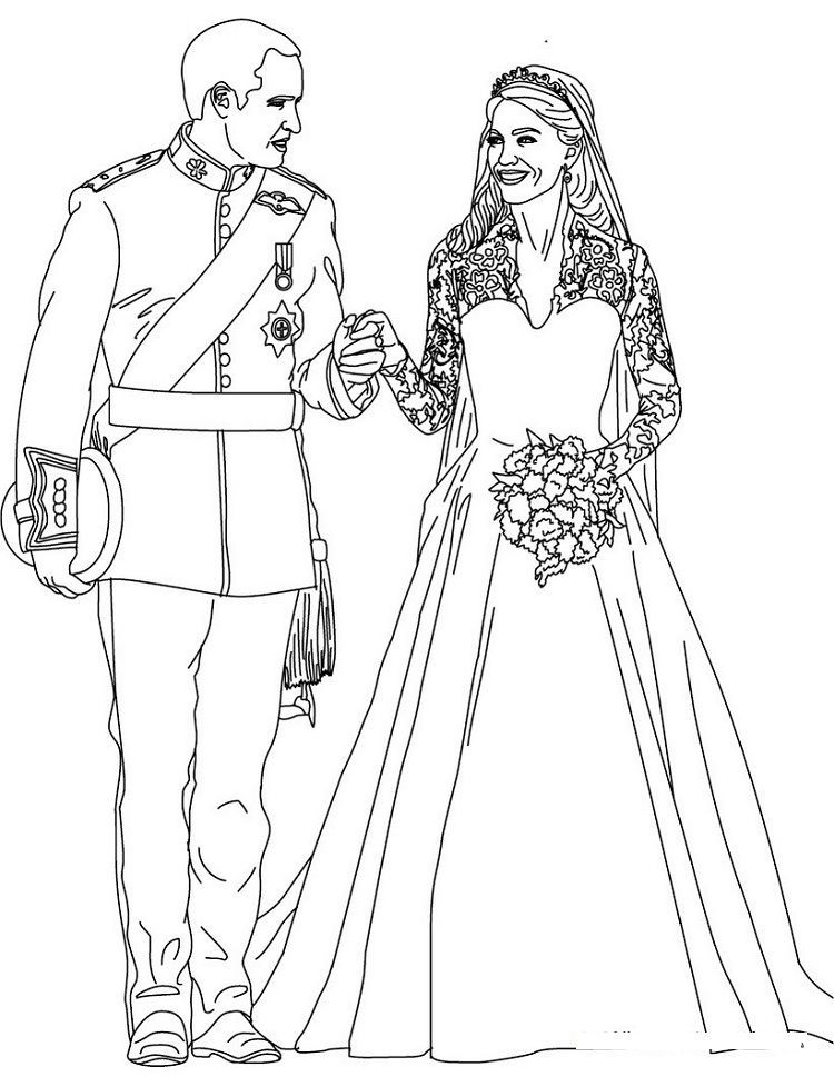 Princess Kate Coloring Pages Wedding Coloring Pages Royal Wedding Colors People Coloring Pages