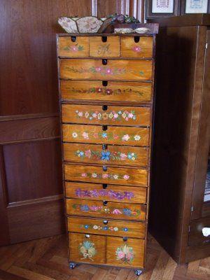 Mueble de costura con cajas de ikea de el taller de - Mueble de costura ...