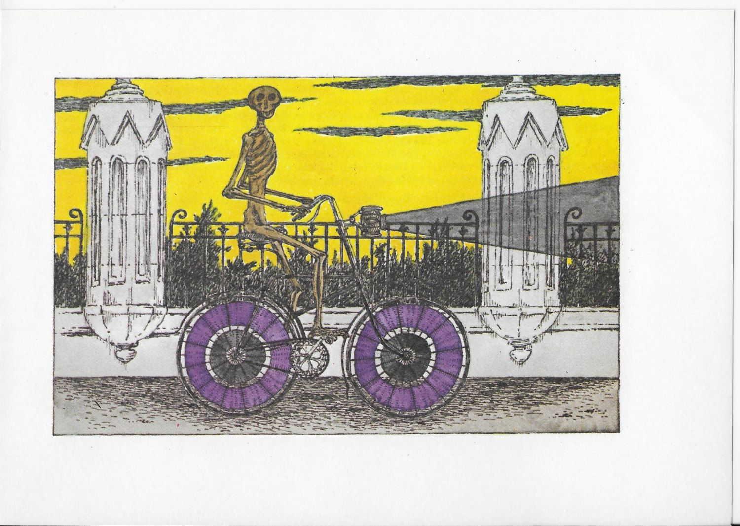 Edward Gorey Art, Edward Gorey, 1976, Gothic Home Decor, Bicycle Art ...