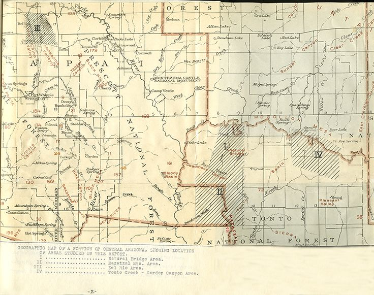 Map Of Central Arizona.The Mazatzal Quartzite A New Pre Cambrian Formation Of Central