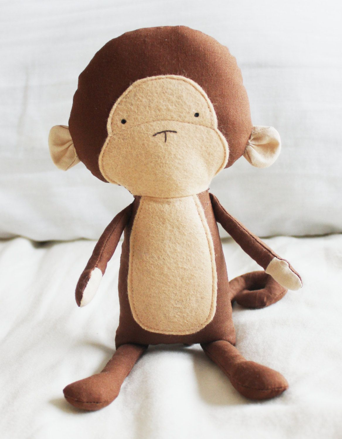 Monkey Sewing Pattern Chimp Softie Plush Toy Cloth Doll Pattern PDF ...