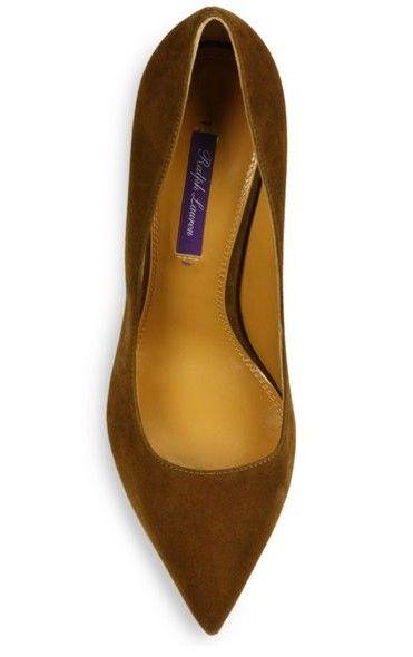 Ralph Lauren (fall 2015) - Celia II suede horn-heel pumps