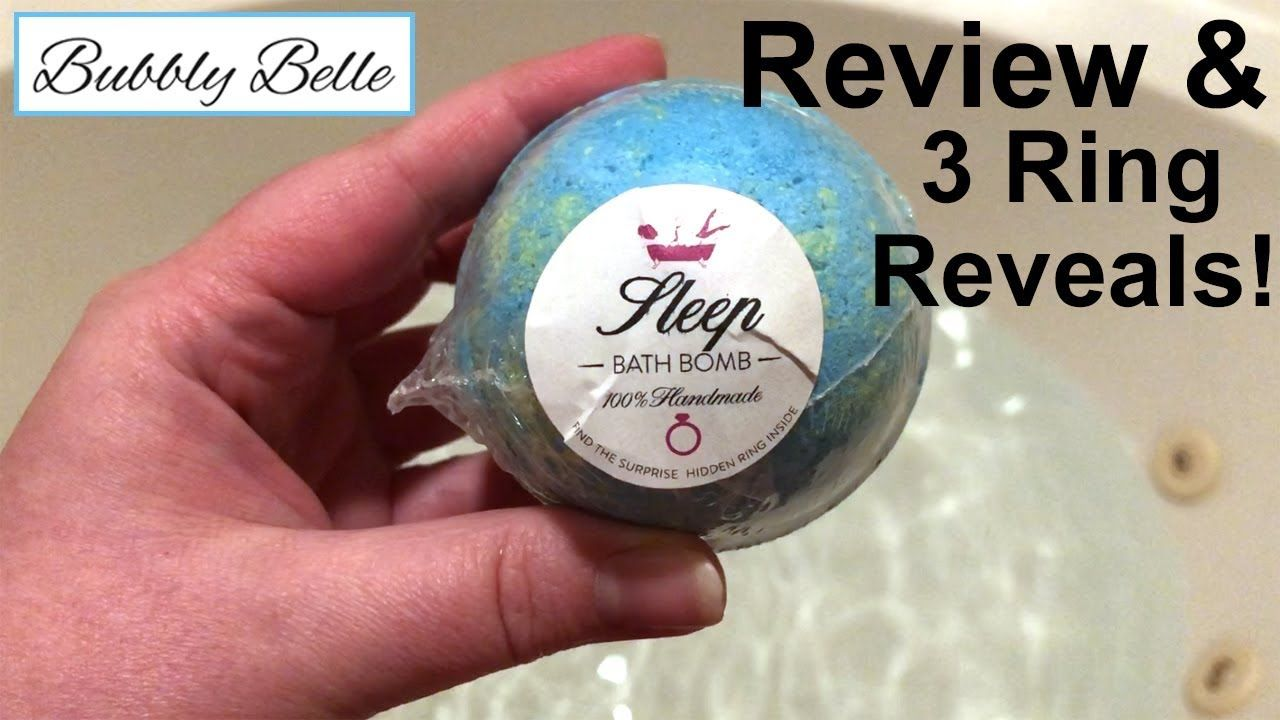 Bubbly Belle Bath Bomb Review And 3 Ring Reveals Bath Bombs Bath Bombs With Rings Bubbles