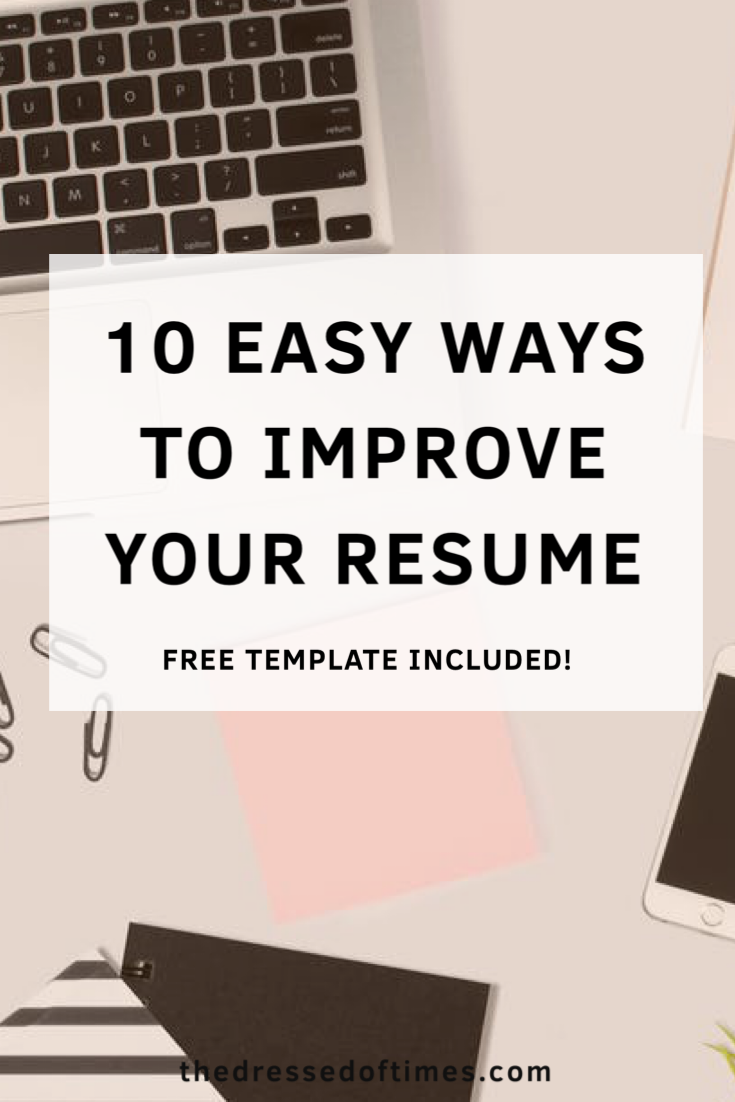Impress recruiters with these ten tips and free resume