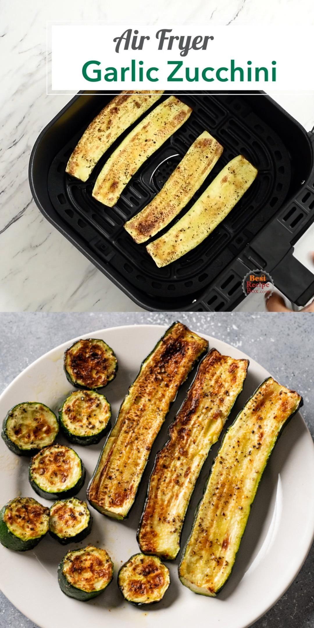 Healthy Air Fryer Garlic Zucchini -   19 air fryer recipes healthy low calorie ideas