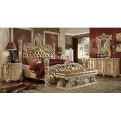Hd 7266 Homey Design Bedroom Set Victorian European Clic Sofa