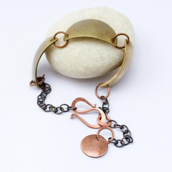 bronze bracelet by jacquelinefouche on Etsy, $30.00
