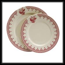Damier Plates - Comptoir de Famille I this French Country dinnerware  sc 1 st  Pinterest & Damier Plates - Comptoir de Famille: I this French Country ...