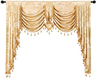 Amazon Com Burgundy Curtains With Attached Valance Waterfall Valance Beaded Curtains Window Curtains Bedroom
