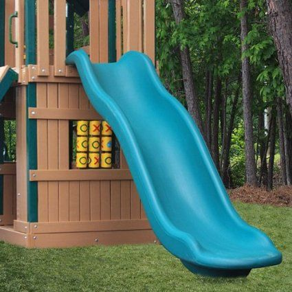 Green Rave Slide Optional Accessories For 7 Deck Height Slide Upgrade For Play Sets Playset Green Slide