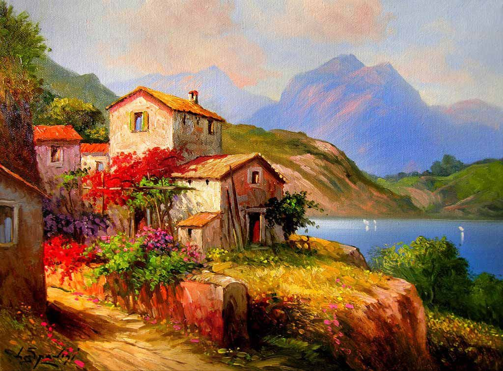 186 best Art - Tuscany images on Pinterest | Scenery, Painting and ...