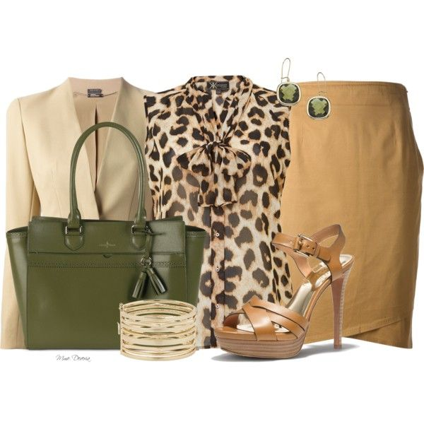"""""""Leopard and Green"""" by madamedeveria on Polyvore"""