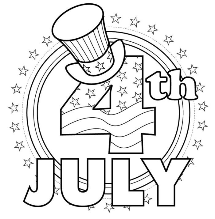 Card Greeting Happy 4th Of July Coloring Kids   Fourth Of July Coloring  Pages : KidsDrawing