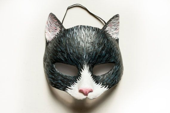 Halloween Fancy Dress Black Cat Mask Halloween Whiskers Witch Catwoman