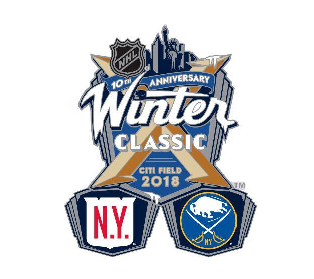 0a6a669538e017 2018 NHL WINTER CLASSIC DUELING PIN NEW YORK RANGERS VS BUFFALO SABRES 1/1 # NewYorkRangers