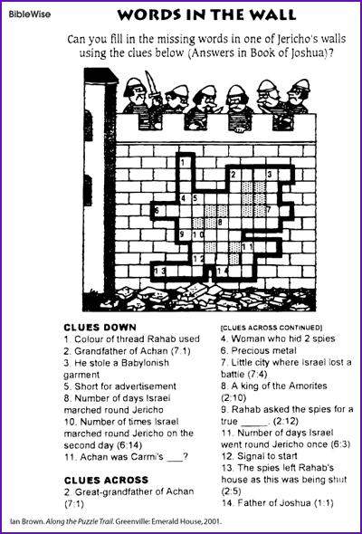 Crossword, Words in the Wall (Jericho)