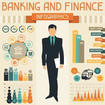 Vintage Banking And Finance Design Vector 05 Finance Financial Literacy Investing Infographic
