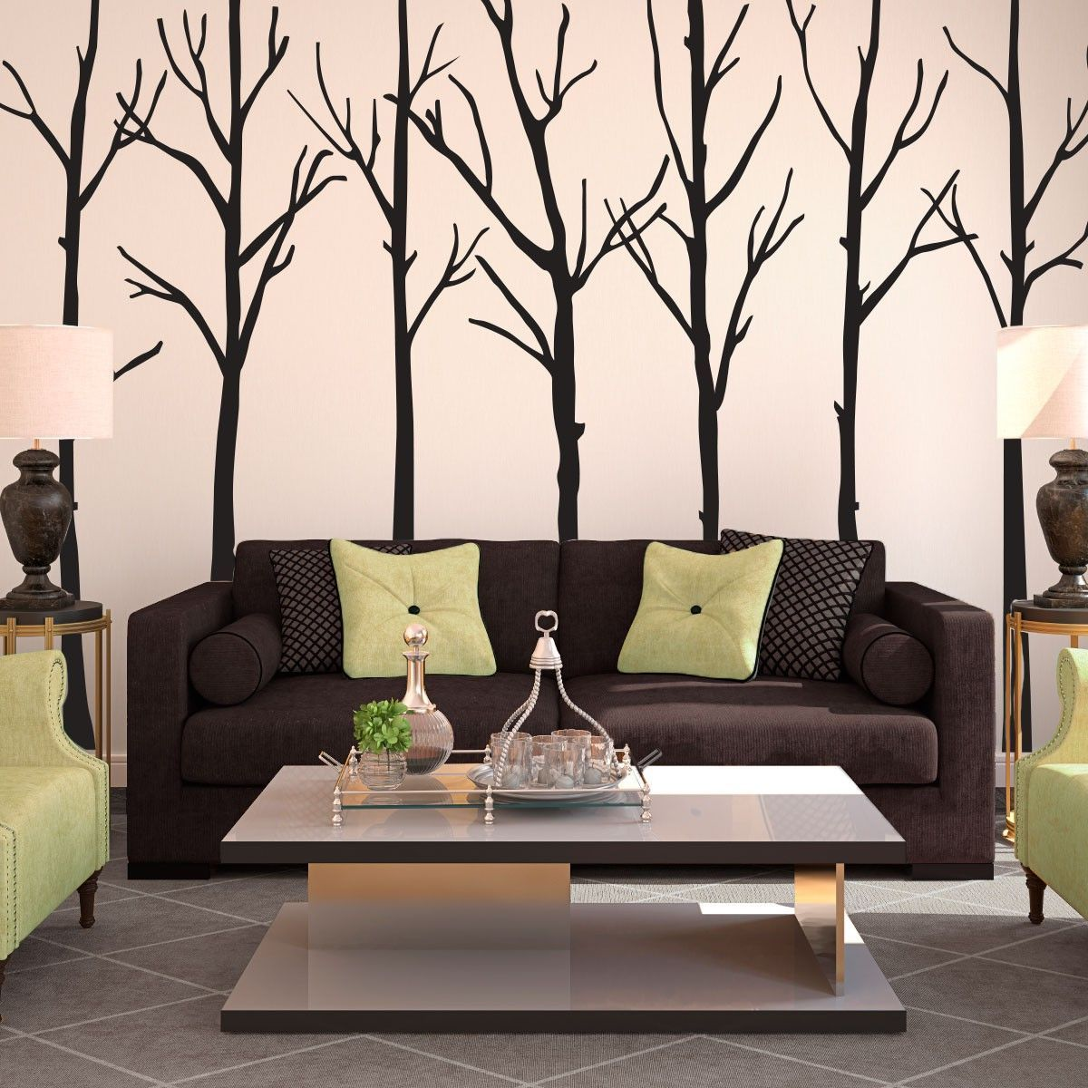 Artistic And Modern Living Room Wall Decorations Wall Art Decor