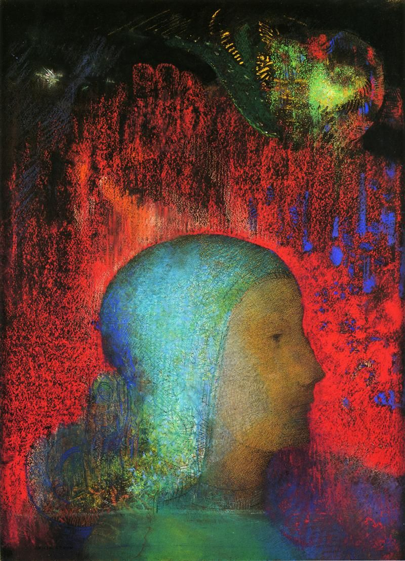 Odilon Redon: Joan of Arc (date unknown) pastel, Musee d\'Orsay ...