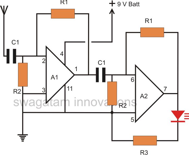 thunder lightning detector circuit electronic circuit projects rh pinterest com Lightning Meter Online Techlib Lightning Detector
