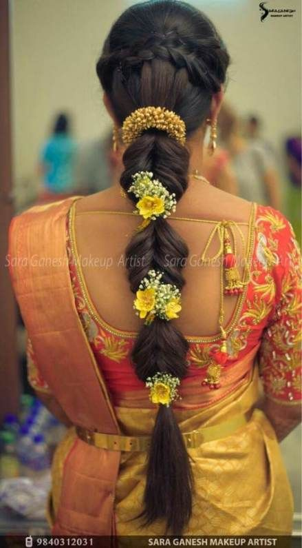 Best Hair Long Messy Braid 60 Ideas | Engagement hairstyles, Indian hairstyles, Bridal hair buns