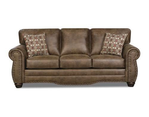 Simmons™ Sawyer Saddle Sofa at Menards®  Nailhead sofa, Menards, Sofa