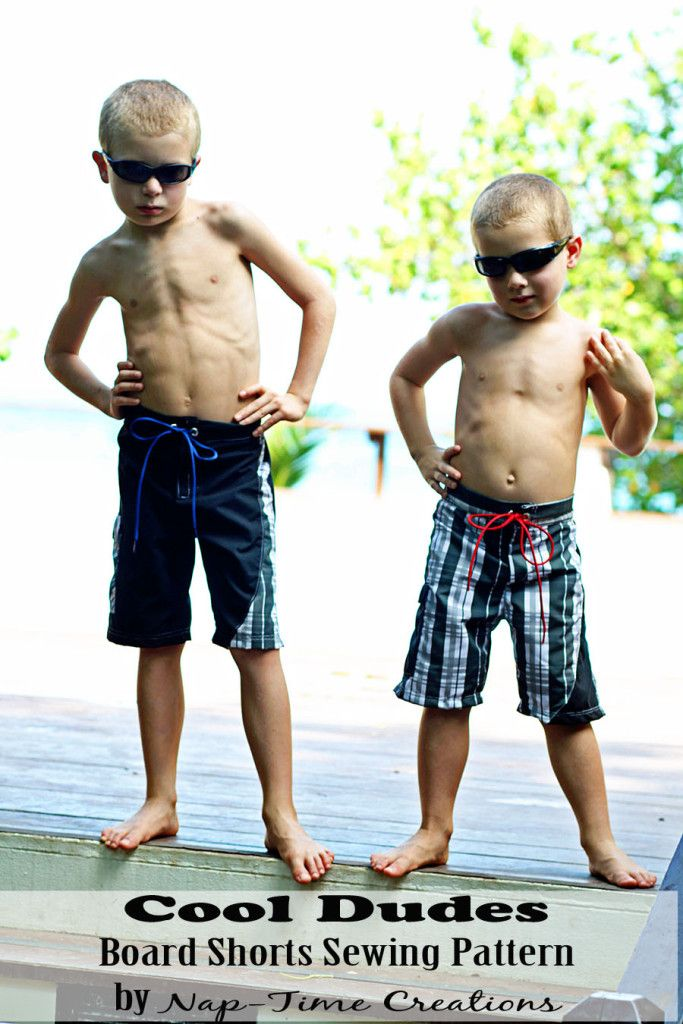 082cb3f42f board shorts sewing pattern size 2-10 boys from Nap-Time Creations ...
