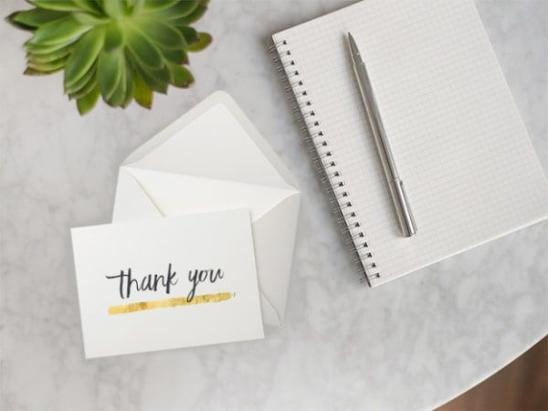 The Art Of Writing A Thank You Note After An Interview  Note