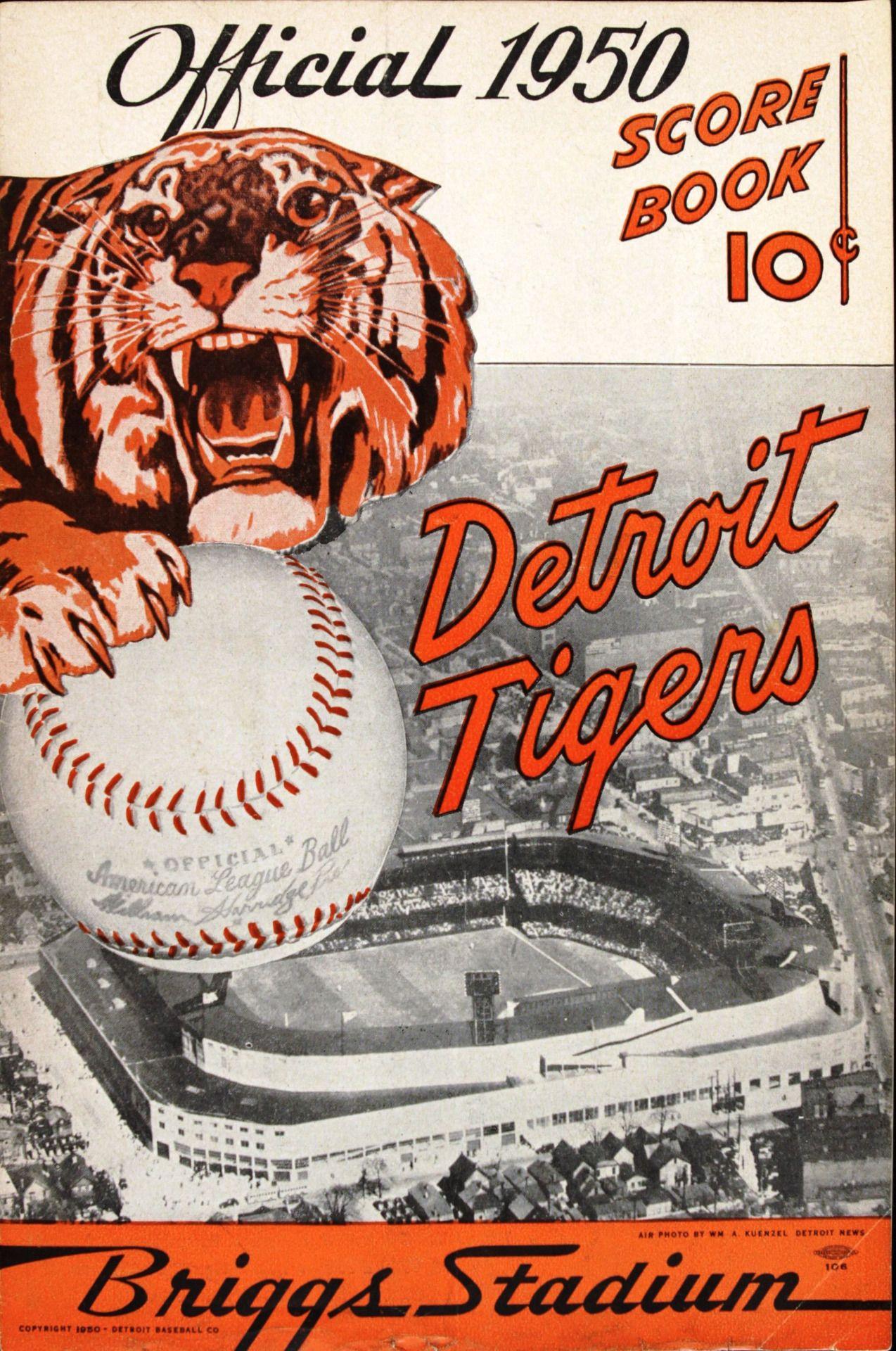 "vintagesportspictures "" Detroit Tigers official score"