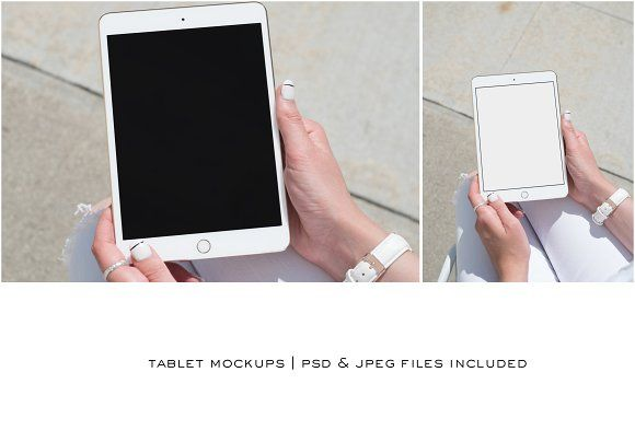 iPad Mockup PSD+JPEG by THE SELLER SOCIETY on @creativemarket
