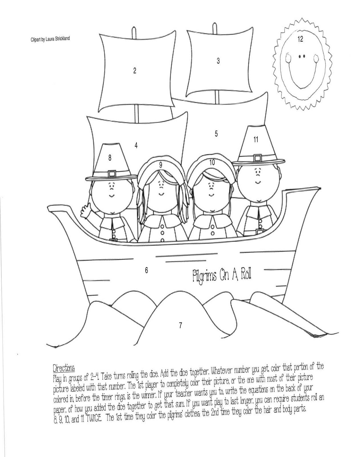 Mayflower Addition Game