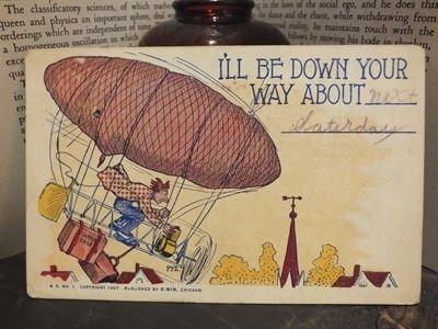 Postcard 1912年ヴィンテージポストカードアンティーク切手USAイラス インテリア 雑貨 家具 Antique ¥480yen 〆05月30日