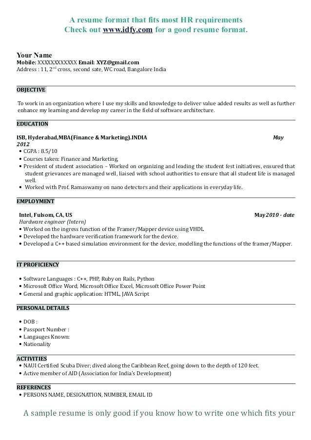 Sample Business Resume Template Template Marketing