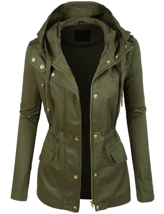 Lightweight Cotton Military Anorak Jacket With Hoodie Military Anorak Jacket Womens Military Anorak Anorak Jacket