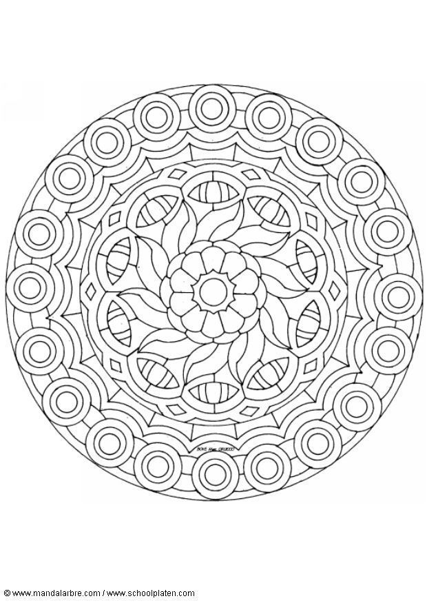 Printable Detailed Coloring Pages | Printable Detailed Mandala Coloring Pages | Coloring page mandala ...