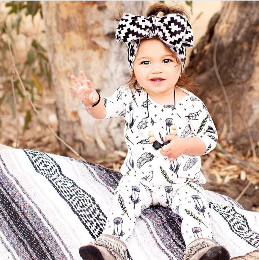 Baby Girl Clothes Baby Girl Coming home Outfit Feathers Baby Girl