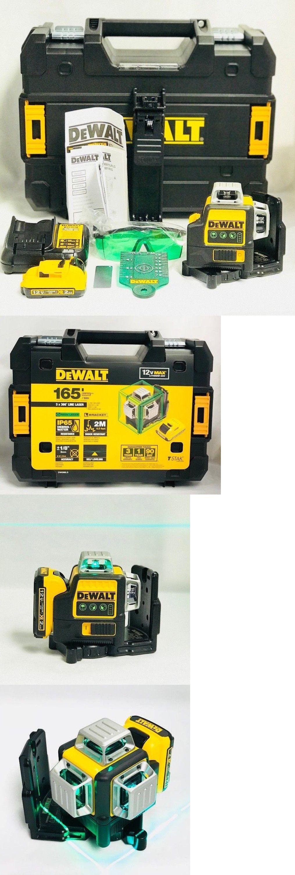 Dewalt Dw089lg 12 Volt 3 X 360 Degree Lit Ion Green Beam Line Laser New No Tax Dewalt Measuring Tools Beams