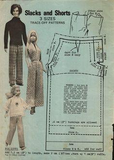 Enid Gilchrist's Dolls Clothes - Pants Pattern for Ken, Barbie & Skipper